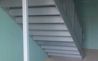 Staircase In Car Garage Premises (1)